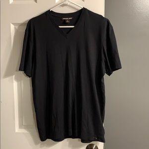 Michael Kors Black V Neck T Shirt